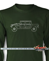 Hummer Humvee H1 Pick-up Long Sleeves T-shirt - Multiple Colors And Sizes