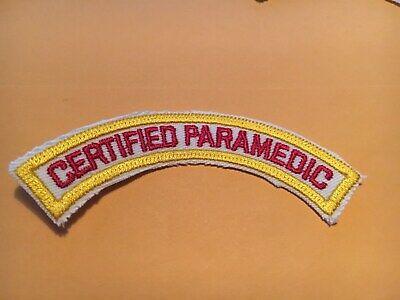 Certified Paramedic Rocker Patch white border