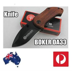 BOKER-DA33-Mini-Small-Folding-Knife-440C-Blade-Wood-Handle-survival-Pocket-Knif