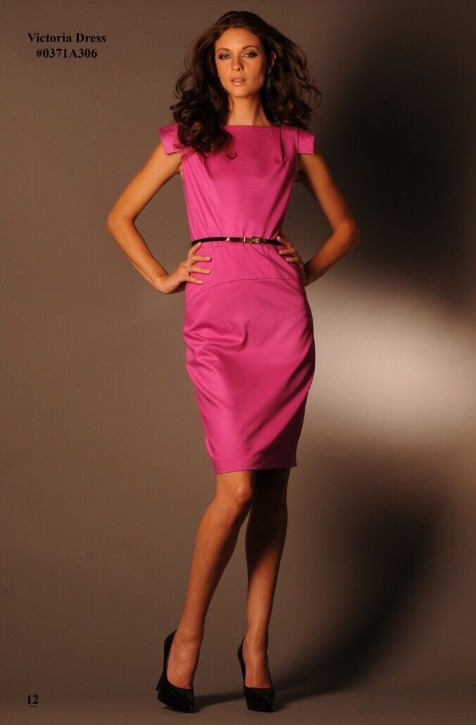 NWT Single Tailored Dress with Belt in Pink size 4