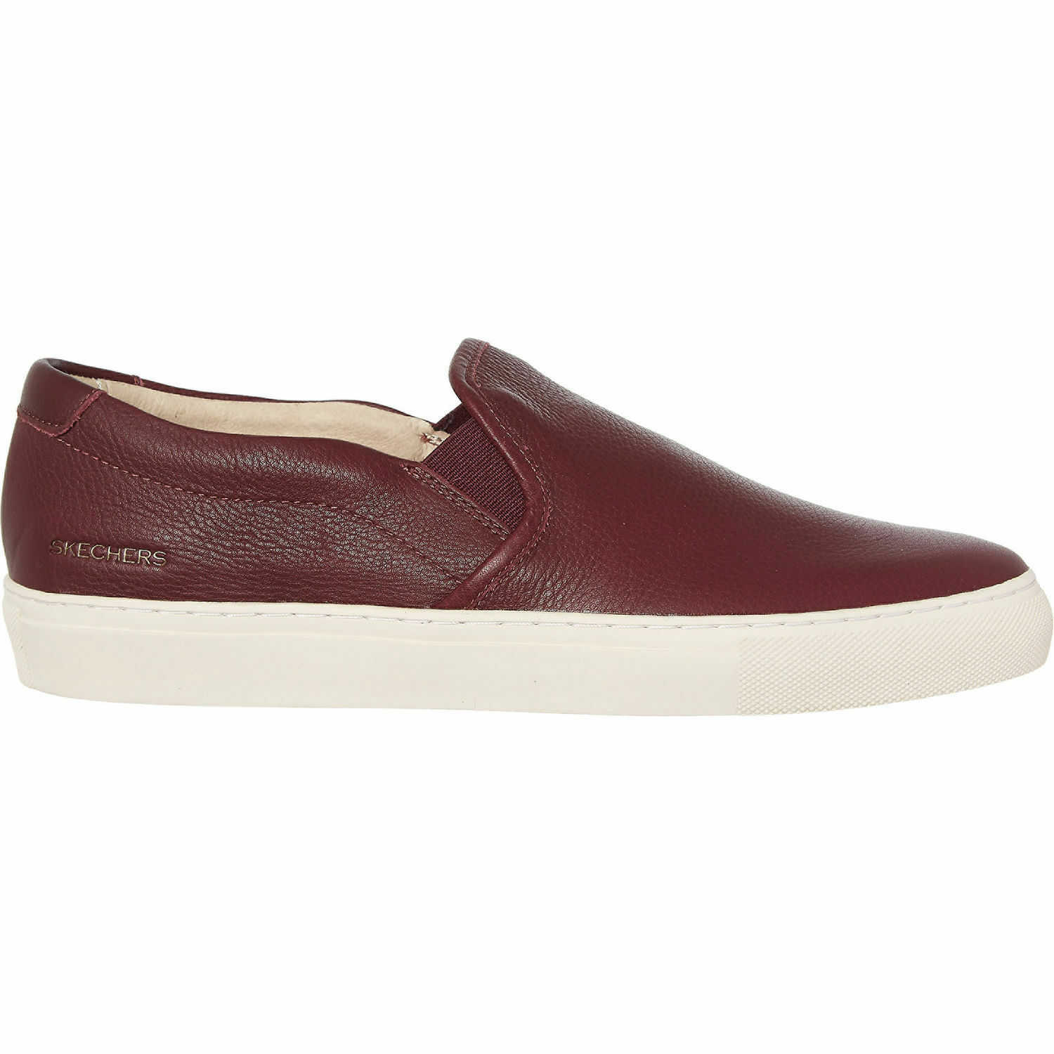 SKECHERS leather slip on Trainers. Size 7.