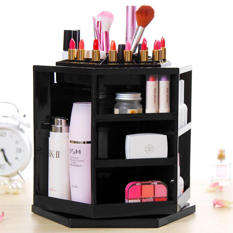 360 Spin Acrylic Spinning Cosmetic Makeup Organizer Box Storage Rack Case Holder | eBay