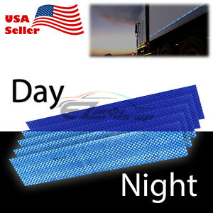Blue DOT-C2 Conspicuity Reflective Tape Strip 1 Foot Safety Warning Trailer RV