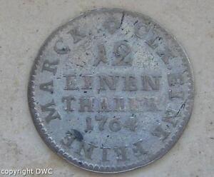Coin-Muenze-1-12-Taler-Friedrich-August-II-Koenig-von-Sachsen-1764-Silber-silver