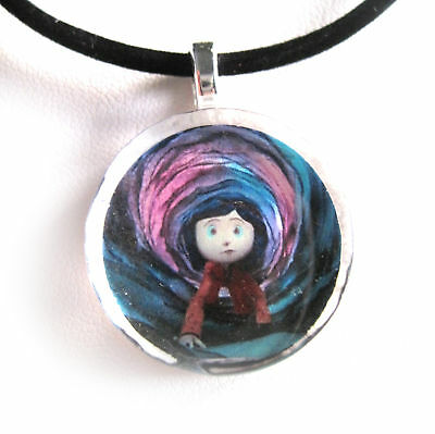 Necklaces Pendants Jewellery Watches Coraline Glass Disc Pendant With Necklace