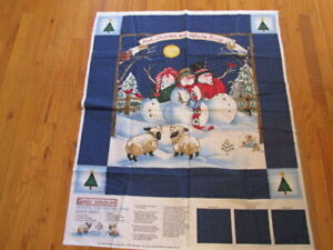 Heaven-and-Nature-Sing-Christmas-Quick-Quilt-Cut-Sew-Fabric-Panel-34x36-AJ119