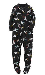 07288bb1c Carter s Boys Kids 1-PC MicroFleece Rockets Helicopter PJ Sleepwear ...