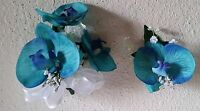 Turquoise Real Touch Orchid Corsage & Boutonniere