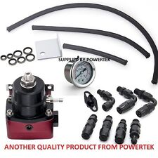 Universal Adjustable Fuel Pressure Regulator Kit  0-160psi Gauge Universal Black