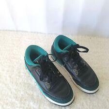 Air Jordan 3 Retro Jaguars Big Kids 441140-018 Rio Teal Shoes Youth Size 6