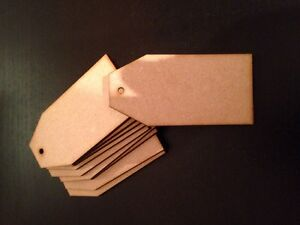 Wooden-10-X-Set-wooden-gift-tags-Blanks-3-Mm-Mdf-Laser-Cut