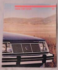 Mercury Lynx Sales Brochure 1985