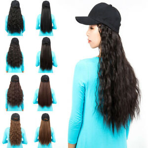 Baseball-Hat-with-Wigs-Hats-Synthetic-Long-Yaki-Hair-Wigs-with-Cap-Hat-Women-YJ