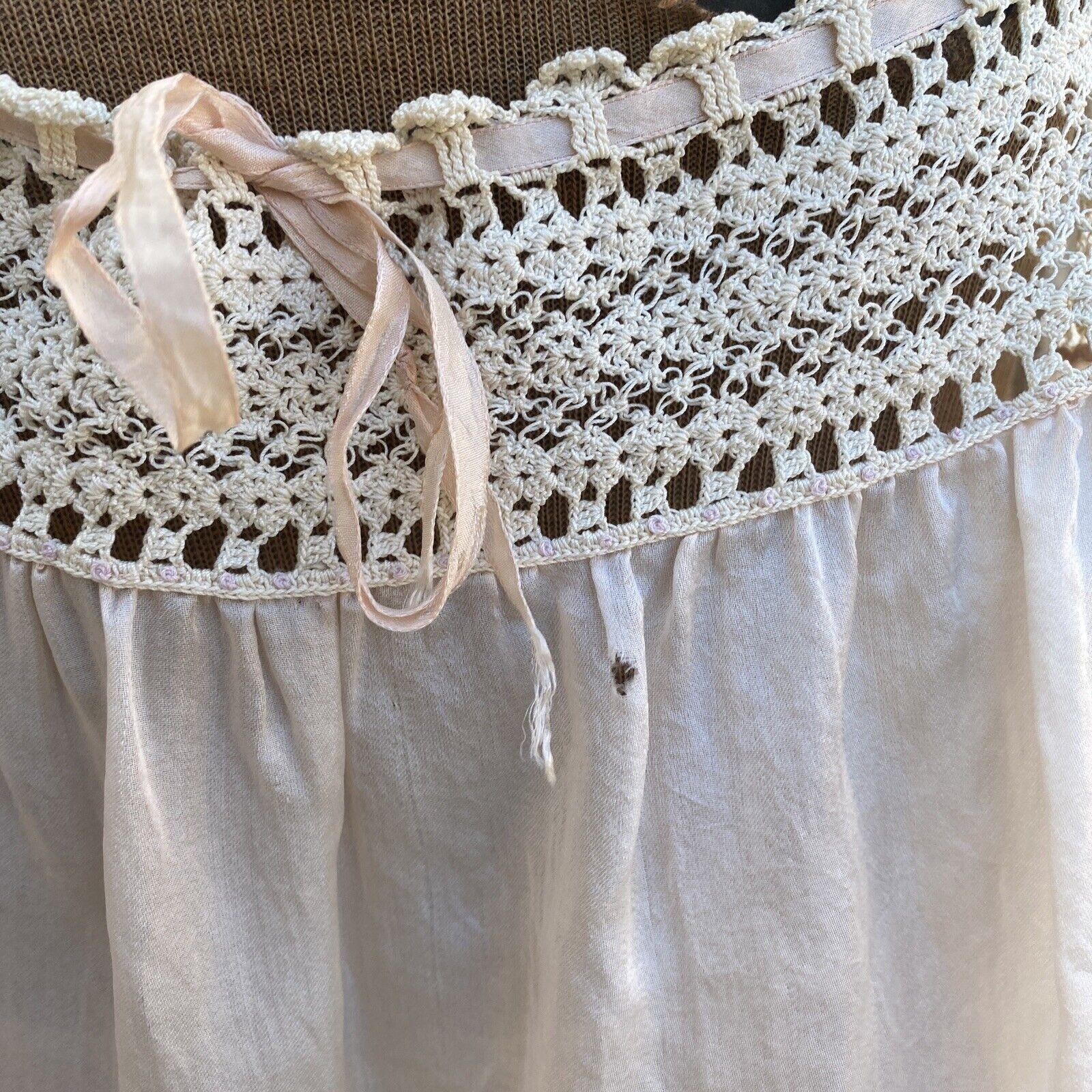 Antique Edwardian Pink Silk Blouse Corset Cover R… - image 5