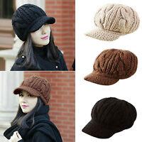 Fashion Korean Winter Warm Women Crochet Knit Ski Beanie Wool Peaked Hat Cap