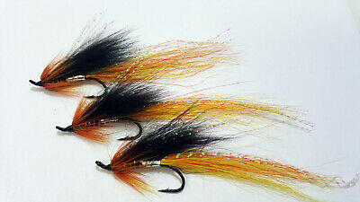 EXECUTIONER 12 /& 14 TREBLE HOOKS 6 OR 12 SALMON FLIES TIED ON SIZE 10