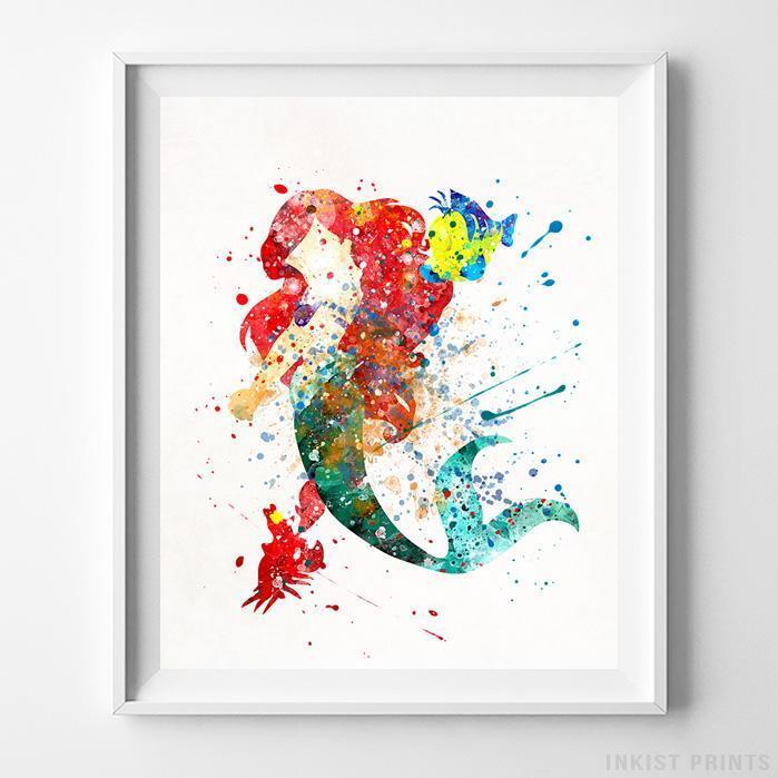 "Little Mermaid Poster Ariel Disney Print  33x47/"" Nursery Room Wall Art Gift P023"