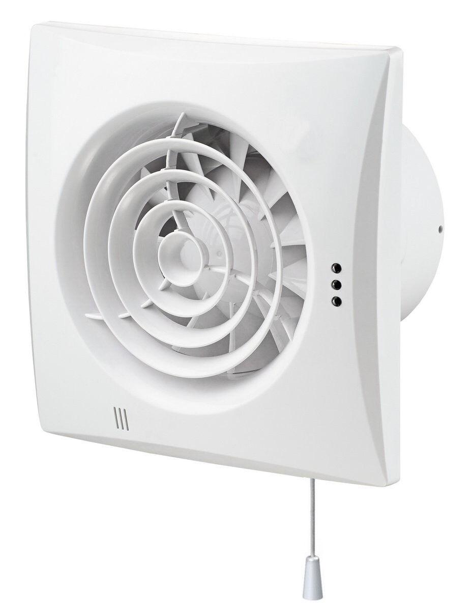 ABlauftventilator Quiet - nicht nur leise sondern still, Hygrostat & Zugschalter     | Feinen Qualität  | Viele Sorten  | Gemäßigten Kosten