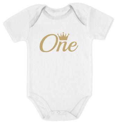 Little Man Is One Year Old First Birthday Son Nephew Gift Boys Romper Bodysuit