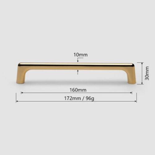 Cabinet Handle Drawer Handles Kitchen Satin Gold Bar Pull Square Knob Hardware