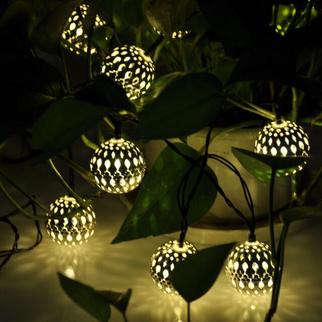 Multi Outdoor Solar/Battery Xmas Tree Garden Party String Fairy Decor Light Lamp