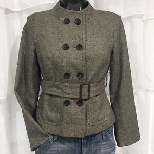ba59bb42714 SIZE 6P - ANN TAYLOR LOFT Petites Wool Blend Belted Jacket Fully ...