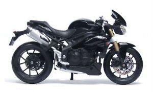 Diligent Triumph Speed Triple 2011, Bburago Modèle Moto 1:18, Neuf Dans Sa Boîte, Neuf-afficher Le Titre D'origine êTre Nouveau Dans La Conception