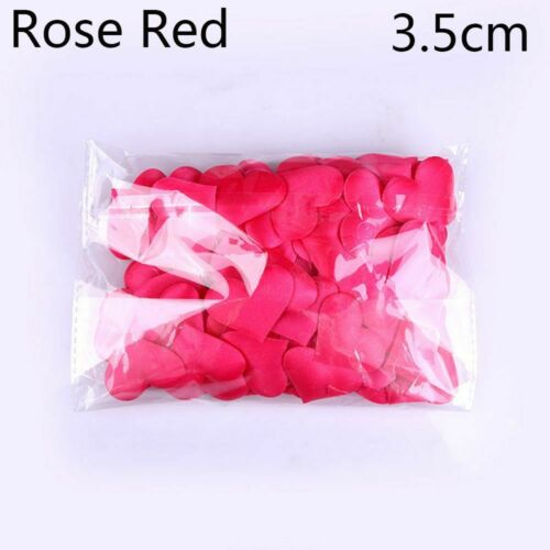 Table Decoration Padded Fabric Love Heart Wedding Party Throwing Rose Petals