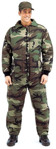 Winter Coverall Insulated Snow Dress Woodland Camo Hunting rothco 7015
