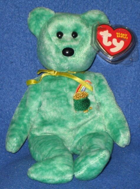 Ty Beanie Baby St Patrick s Day Killarney Green Plush Pot of Gold Bear 40042 e16f2cae0ee1