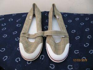 Vans Shoes Ladies Uk 7 5 Check Designs Pumps Plimsoll Worn Vgc Ebay