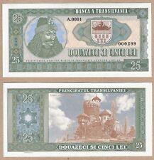 Romania - Transylvania 25 Lei 2016 UNC SPECIMEN Test Note Banknote - Dracula