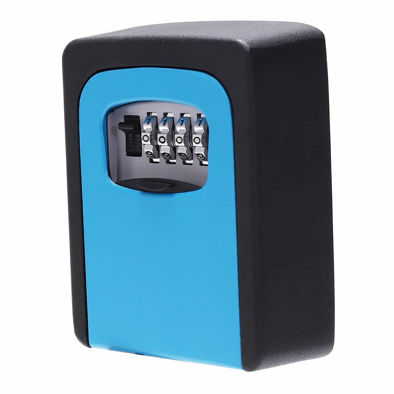 Details about  /Key Lock Box Wall Mounted Aluminum alloy Key Safe Box Weatherproof 4 Digit C t5e