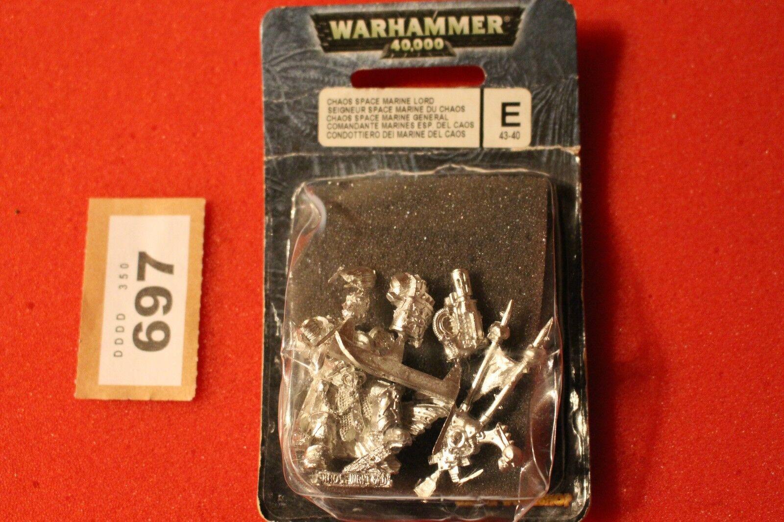 giocos lavoronegozio WARHAMMER 40k spazio Marine del Caos  Lord IN METtuttiO NUOVO CON SCATOLA NUOVO fuori catalogo GW  la vostra soddisfazione è il nostro obiettivo