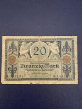 GERMANY - 20 MARK 1915 -  VERY  FINE MINUS