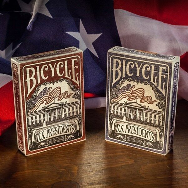 2 Decks Bicycle US Presidents Standard Poker Playing Cards Brand New Decks BL+RD