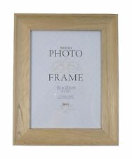 "2 X STUDLEY LIGHT WOOD OAK TO HANG OR STAND GLASS PHOTO FRAME 8/"" X 6/"""