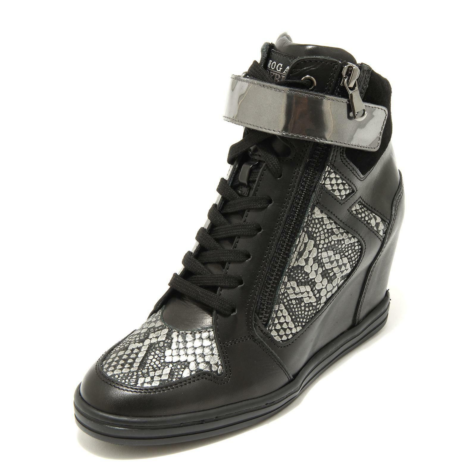 4479G tenis mujer negro gris HOGAN Rebel Rebel Rebel R 199 Cremallera Lateral Scarpa Zapatos Wome  barato en línea