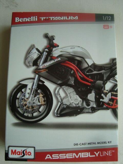 NEW MAI39051 Maisto Moto Kit PREPEINT 1/12 BENELLI TNT TITANIUM