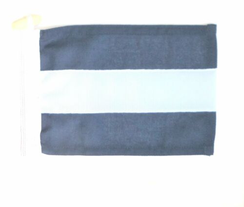Sewn ICS Nautical Signal Flag Letter 'J' Juliet Made In The UK