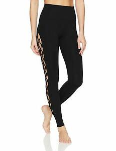 3d4a4b3798769 Alo Yoga Women s Interlace Black Leggings - MEDIUM 884913592087
