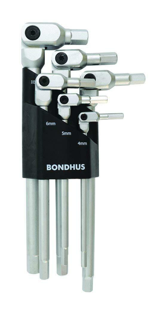 Bondhus HP6-1C-35R 6pc Metric Hex-Pro Pivot Head Hexagon Key Wrench Set 4-10mm