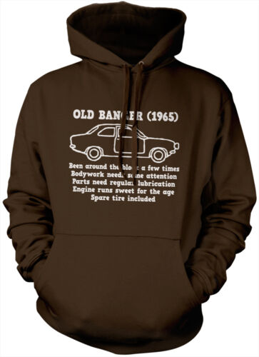Old Banger Funny 50th 1965 Hoody Birthday Present Gift Unisex Hoodie All Colours