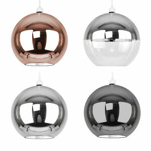 Industrial-Easy-Fit-Glass-Globe-Ceiling-Pendant-Light-Shades-Lampshade-Lighting