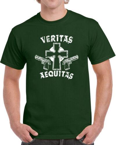 145 Veritas Aequitas mens T-shirt prayer irish catholic movie movie st patrick
