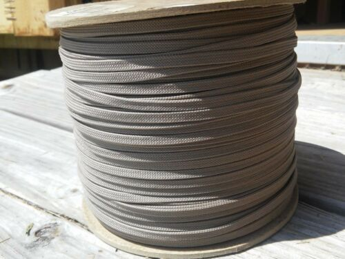 """Hollow Discounted. 3//16/"""" x 600 ft Flat MFP Rope.Light Brown"""