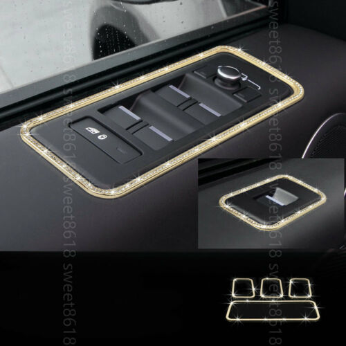 4x Gold Diamond Door Window Lift Frame Cover trim For Land Rover Discovery 5 17+