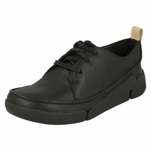 CLARKS LADIES LEATHER LACE UP CASUAL FLEXIBLE TRAINERS SHOES SIZE TRI CLARA