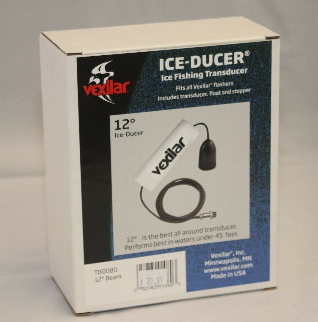 Vexilar Marina 12°Grados Single-Beam Ice Pesca Transductor Tb0080
