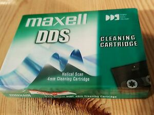 Maxell-4mm-DDS-DAT-Tape-Head-Cleaning-Cartridge-New-Sealed